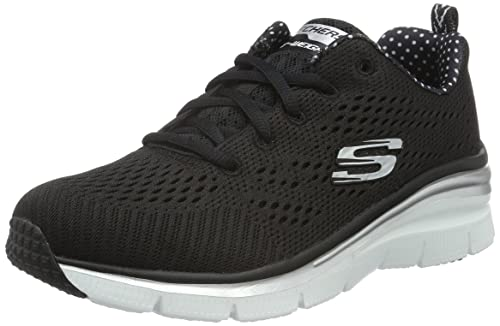 Skechers Women's Fashion Fit Statement Piece Sneakers Black Size: ...