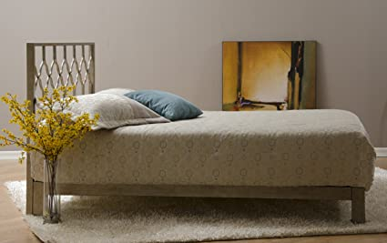 Magnificent Honeycomb Metal Headboard And Aura Gold Metal Platform Bed Gold Queen Beutiful Home Inspiration Truamahrainfo