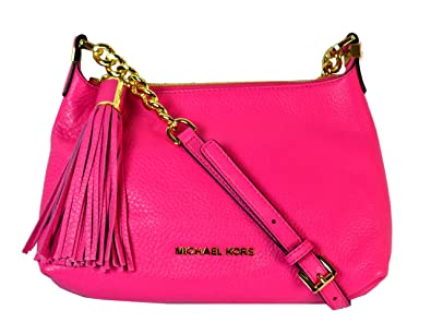 amazon com michael kors weston small pebbled leather messenger rh amazon com