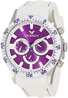 Viceroy Womens 432142-75 Purple Date White Rubber Watch