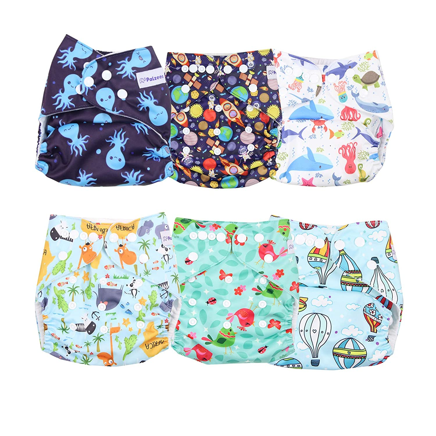 1Insert Baby Cloth Diaper Unisex One Size Reusable Washable Pocket Nappy Cover