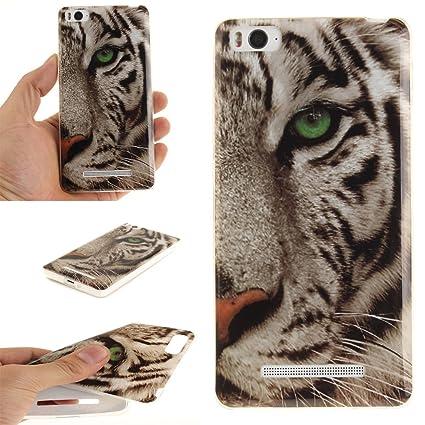Guran® Silicona Funda Carcasa para Xiaomi Mi 4C Smartphone Case Bumper Shock TPU Cover-Tigre