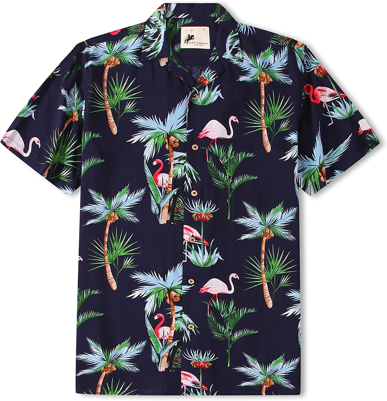 Camisas hawaianas de manga corta para hombre Aloha Summer Beach Casual Button Down Camisa - Azul marino - X-Large: Amazon.es: Ropa y accesorios