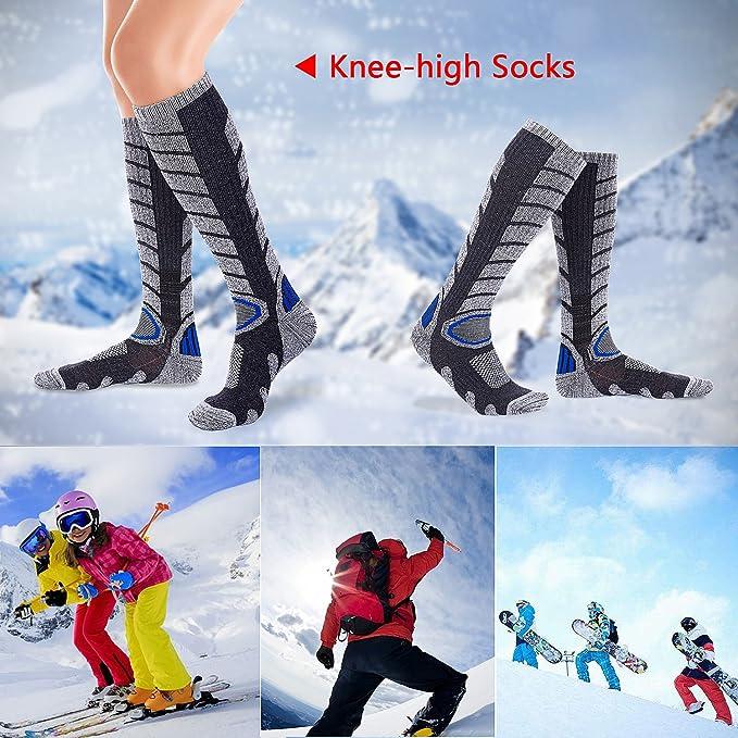 Diealles Calcetines para Hombres de Esquí para Esquiar, IR de Excursión (L 39-43) - Gris Oscuro: Amazon.es: Deportes y aire libre