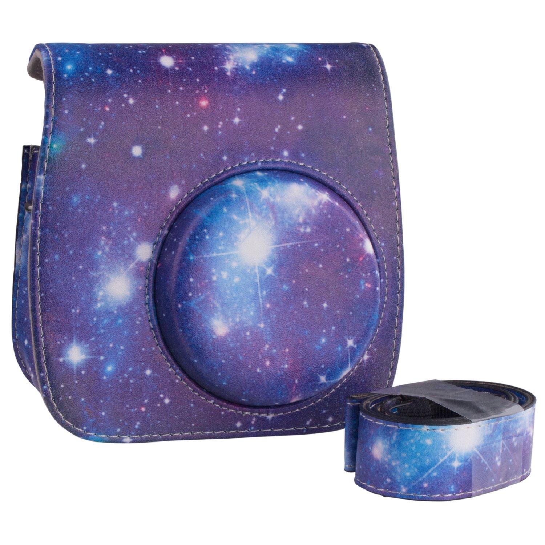 ZWOOS Camera Case for Fujifilm Instax Mini 8// Mini 9 Vintage Comprehensive Protection for Instax Mini 8// Mini 8S Galaxy Mini 9 Camera Bag With PU Leather Material
