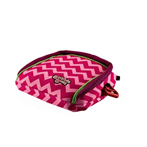BubbleBum Travel Car Booster Seat, Pink Chevron