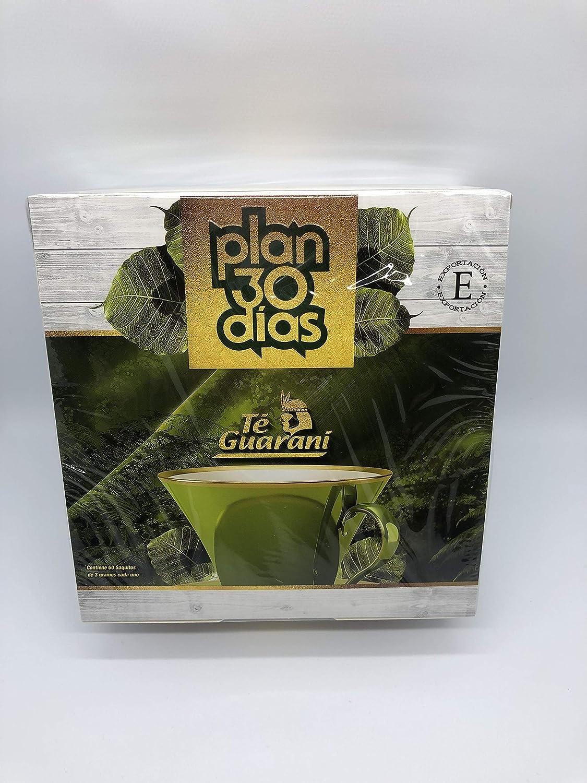 Plan 30 días Te Guarani Acción Laxante y Diurética Adelgazamiento Natural 60 bolsitas: Amazon.es: Hogar