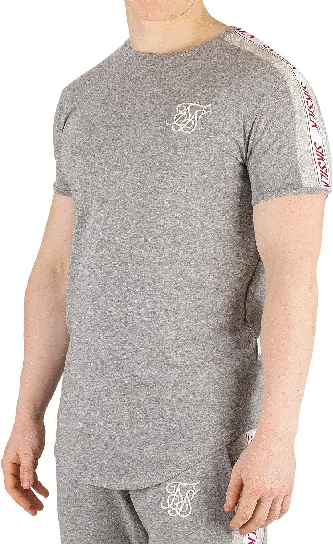 Sik Silk Hombre Camiseta de Gimnasio de Cinta, Gris: Amazon.es: Ropa y accesorios