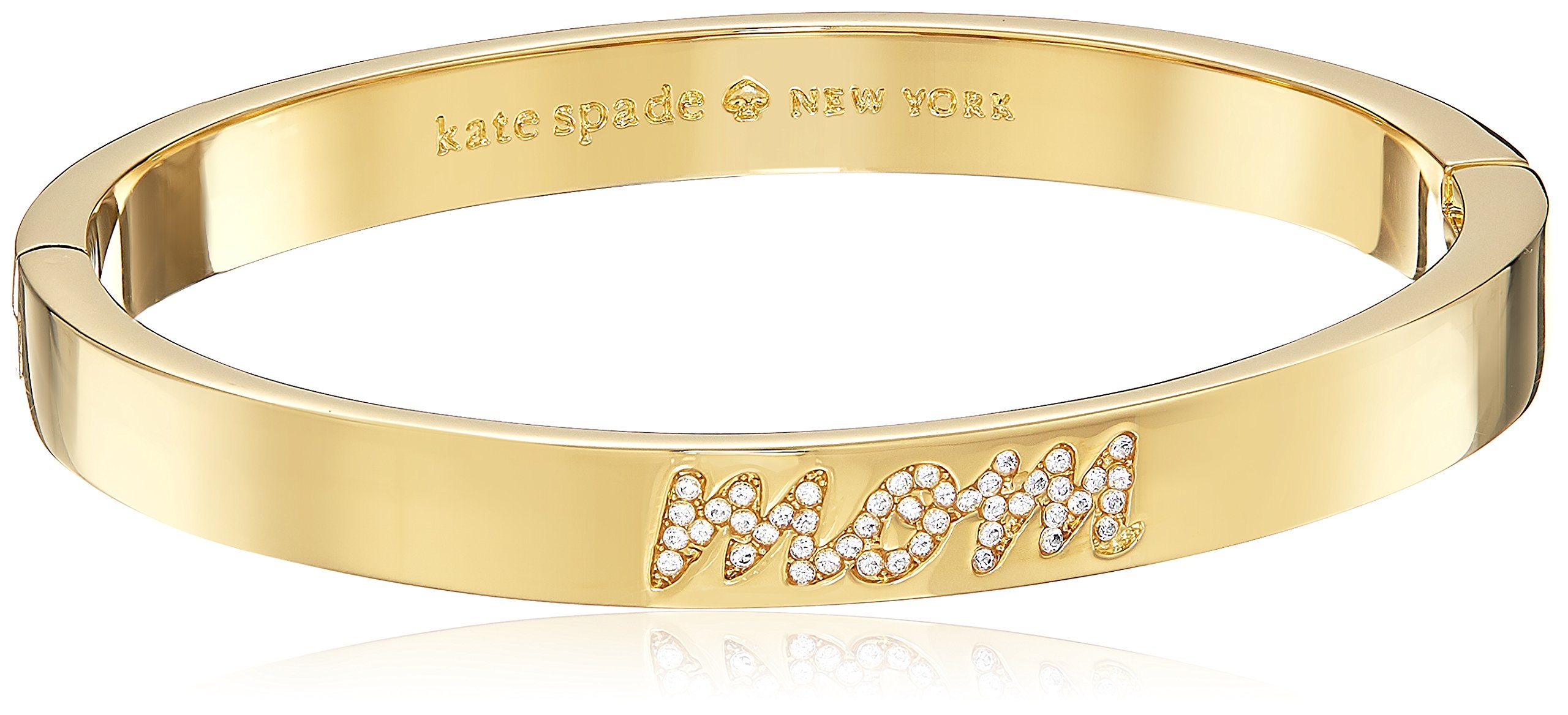 Kate Spade New York Pave Mom Bangle Mom Knows Best Pave Mom Clear/Gold Bangle Bracelet