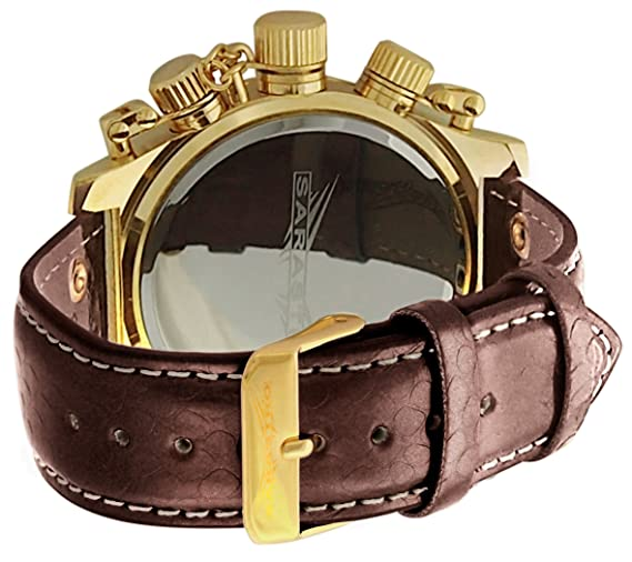 Amazon.com: Mens Leather Dress Watch Brown Strap Multifunction Blue Dial Day Date Sarastro AQ101141G: Sarastro: Watches
