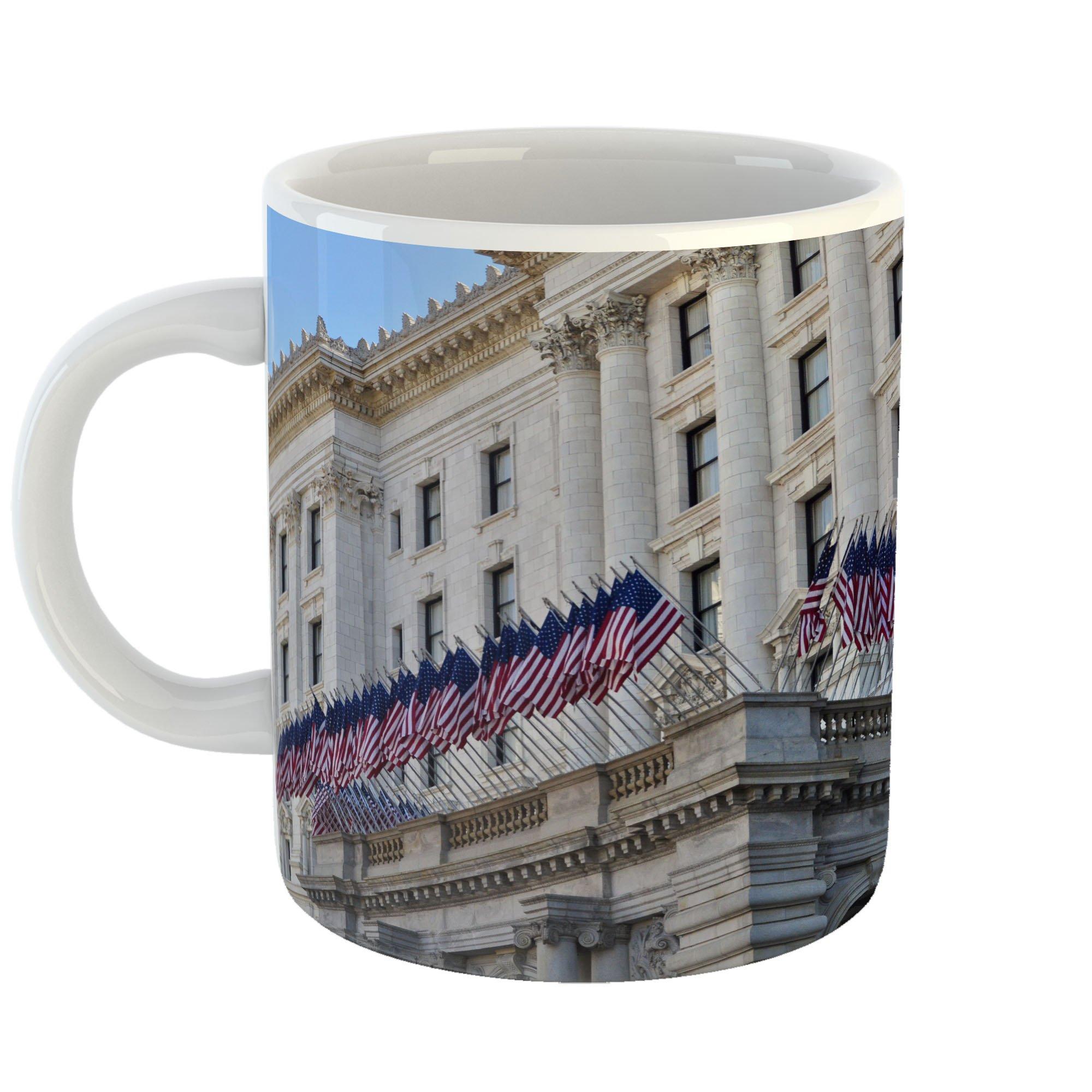 Westlake Art - Flag Hotel - 11oz Coffee Cup Mug - Modern Picture Photography Artwork Home Office Birthday Gift - 11 Ounce (8CDF-B0E71)