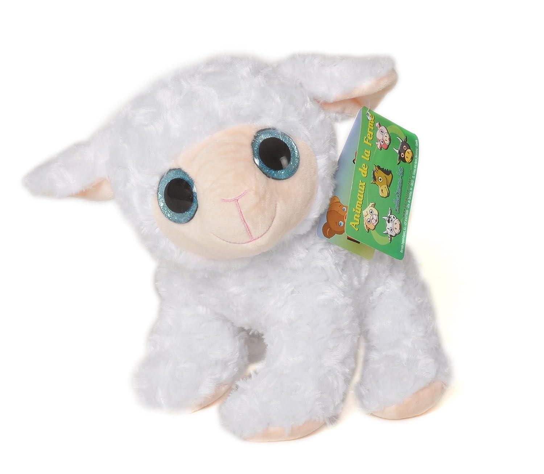 Animales de la Granja - Peluche Oveja con ojos brillantes (25cm) - Calidad Super Soft: Amazon.es: Juguetes y juegos