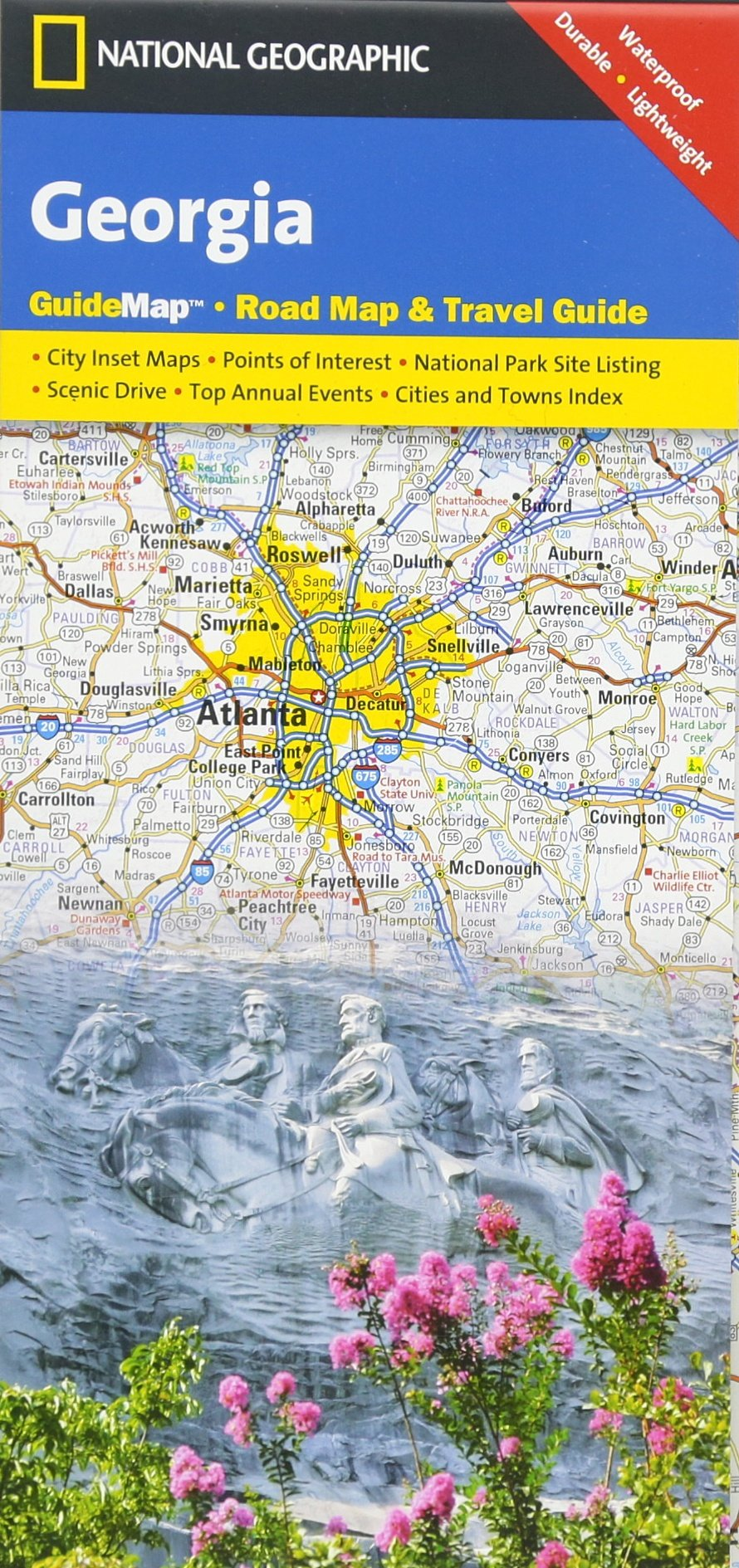 Georgia National Geographic Guide Map National Geographic Maps - Road map georgia