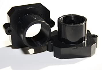 Stock Optics Board Lens Holders with 21mm hole spacing for Raspberry PI  Cameras (M12-M-21-R) Pack of 2 holders