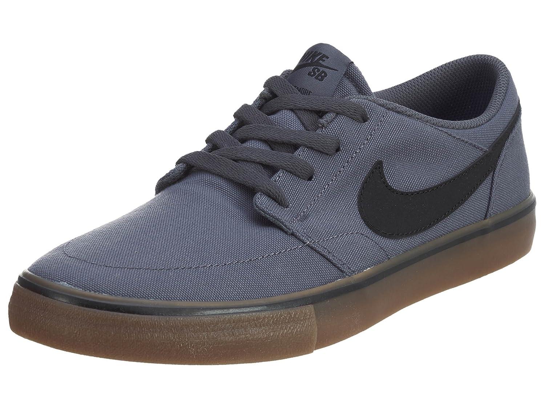 NIKE Men's Sb Portmore Ii Solar Ankle-High Canvas Skateboarding Shoe B003A92FG0 4 D(M) US|Dark Grey/Black-gum Light Brown