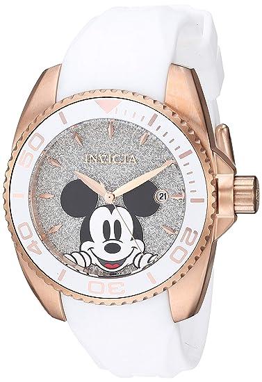 Invicta 27380 Disney Limited Edition Mickey Mouse Reloj para Mujer acero inoxidable Cuarzo Esfera plata: Amazon.es: Relojes