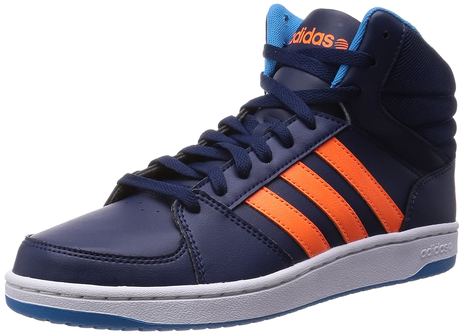 brand new 030bc 75271 adidas NEO Men s High Top Trainers Basketball Shoes Trend shoes HOOPS VS  MID - Blue (Blue), UK 12.5  Amazon.co.uk  Sports   Outdoors