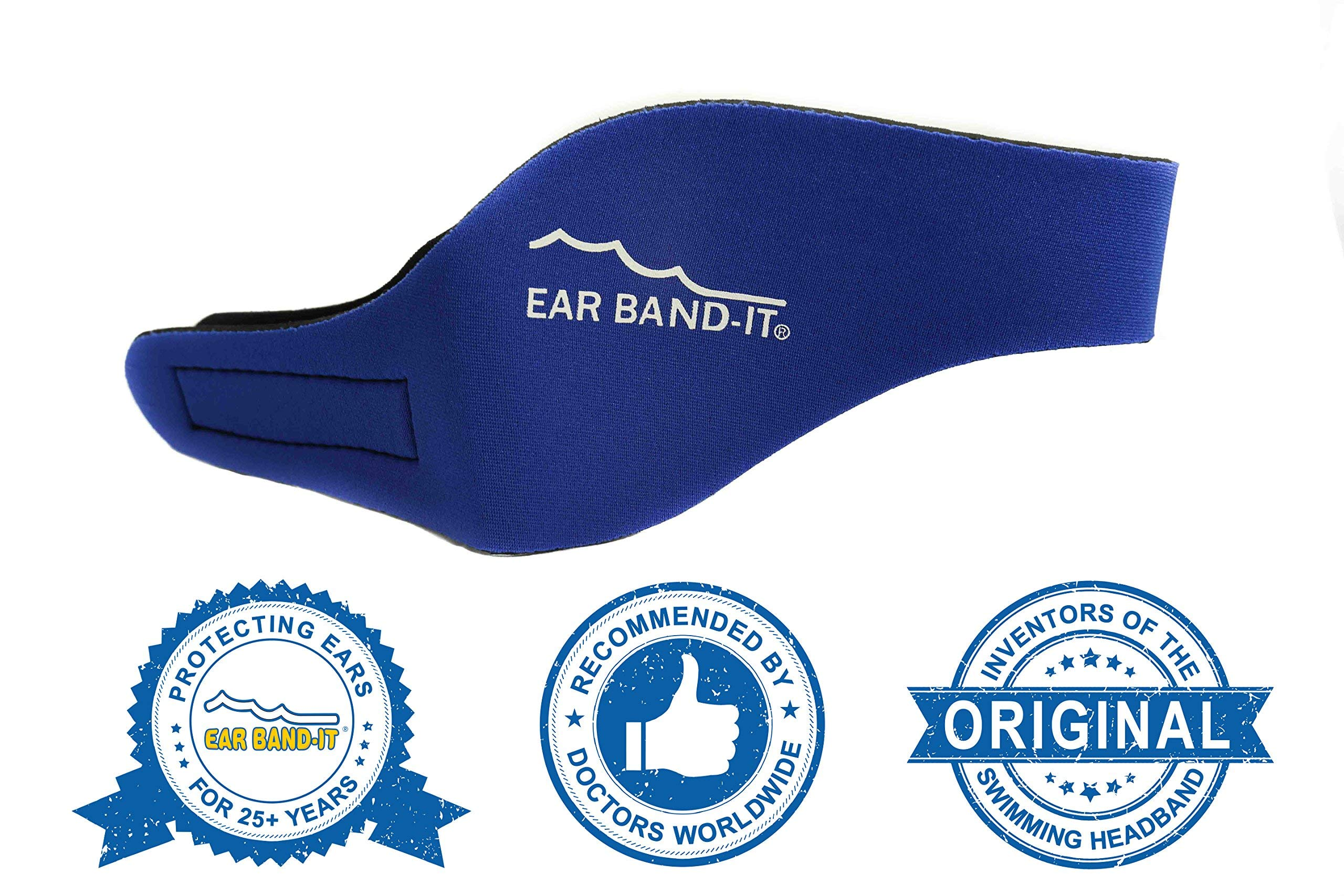 Ear Band-It Swimming Headband - Invented by Physician - Hold Ear Plugs in - The Original Swimmer's Headband - Doctor Recommended - Secure Earplugs