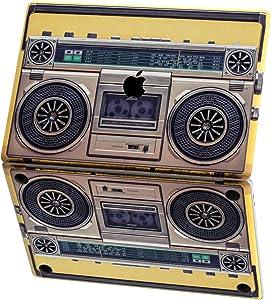 Mertak Vinyl Skin for Apple MacBook Air 13 inch Mac Pro 16 15 Retina 12 11 2020 2019 2018 2017 Vintage Top Women Tape Recorder Hipster Decal Wrap Music Laptop Retro Design Keyboard Print Boombox