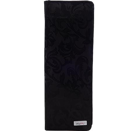 KNIT PRO- Estuche para agujas de tejer de 35 cm, en carcasa de algodón rígido, color negro: Amazon.es: Hogar
