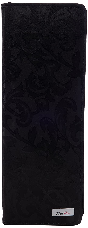 40cm Black Jacquard Hard Fabric Knitting Pin Case