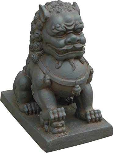 Hi-Line Gift Ltd Foo Dog-Right Paw on Cub Statue