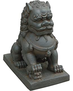 Ordinaire Hi Line Gift Ltd. Foo Dog Right Paw On Cub Statues, Clay