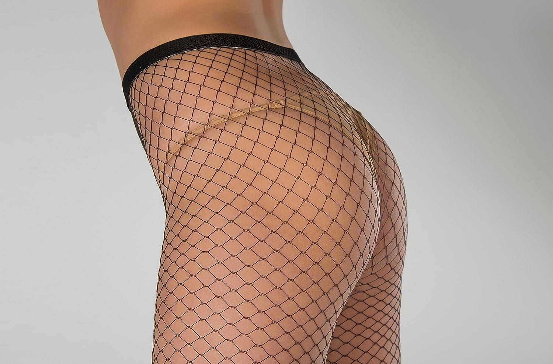 elegante WOOTI Collant rete grande CAPRICCIOSA resistente, calza a rete sexy
