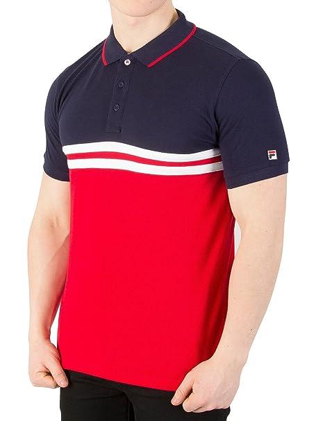 Fila Vintage Domeneco Cut & Sew Block Polo Shirt Large 40