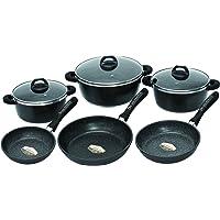 Schumann Professionnel SBA2201300 Black Rock Pièces Batteries de Cuisine Revêtement/Fonte d'Aluminium Noir
