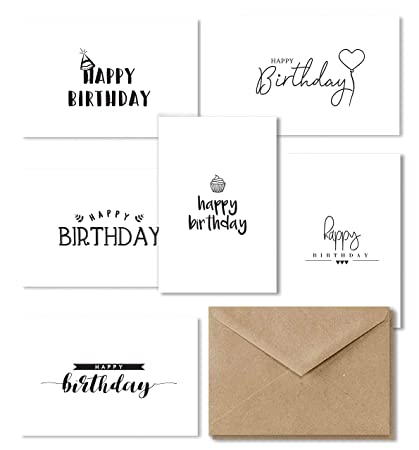 Happy Birthday Cards Assortment 36 Bulk Box Set Bday Greeting Card Variety