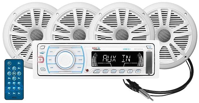 amazon com boss audio mck1307w 64 receiver speaker package mp3 usb