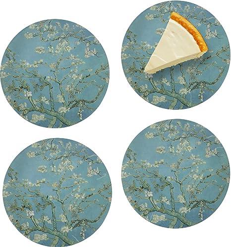 Apple Blossoms (Van Gogh) Juego de para aperitivos/platos de ...