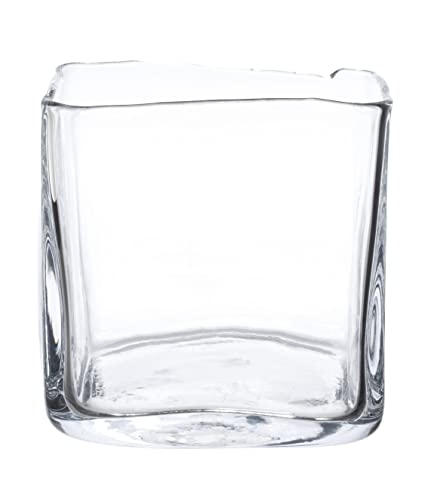 Buy Zodax Vanguard Picasso Square Glass Vase Large Online At Low