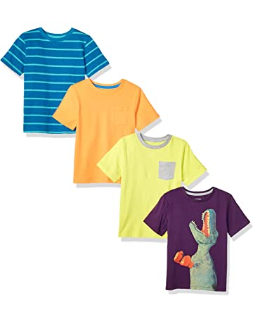 2da75069b8dd Amazon Brand - Spotted Zebra Boys  4-Pack Short-Sleeve T-Shirts