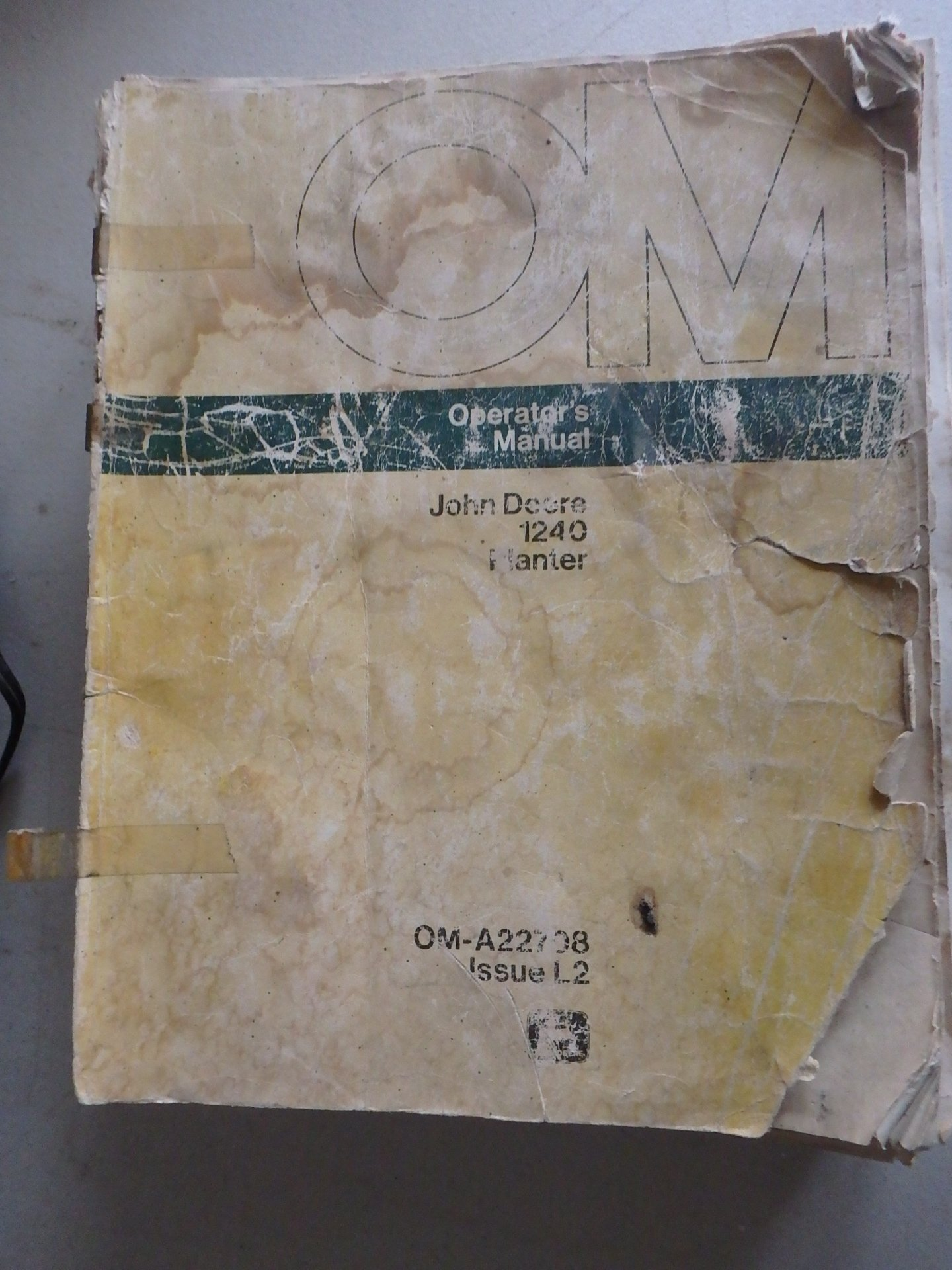 John Deere 1240 Planter Oem Operators Manual John Deere Amazon Com