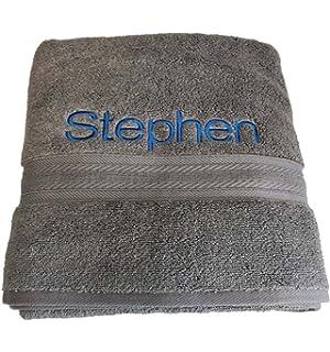 Personalizado Bordado Toalla de baño con su nombre