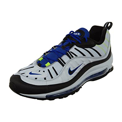 save off 898fa 029f8 Nike Air Max 98 Men s Running Shoes White Black Racer Blue Volt 640744-