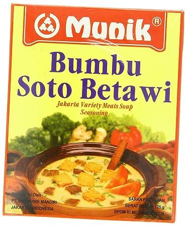 Amazon Com Munik Soto Betawi Jakarta Variety Meat Soup 125 Gram