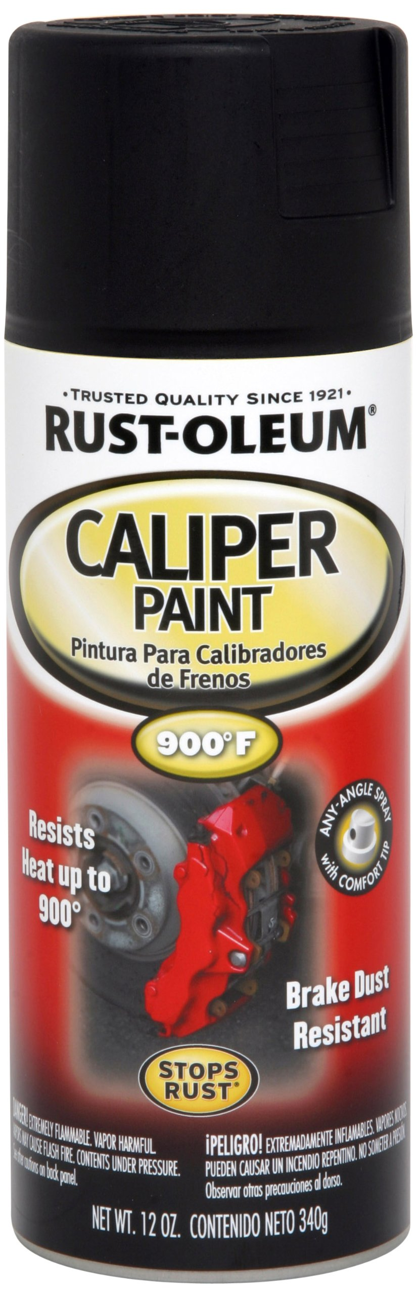 Rust-Oleum 251592 Automotive Caliper Spray Paint, 12 Oz, Black