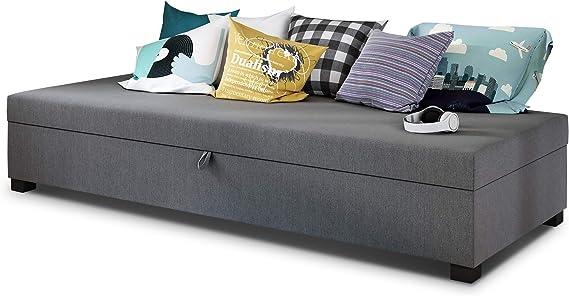 Cama individual Misti - Sofá cama con canapé, sofá cama, selección de colores, somier, cama cómoda, cama para habitación juvenil, muebles de ...