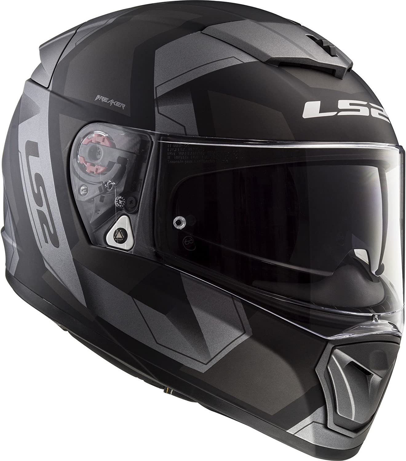 Casco integral BREAKER FF390 PHYSICS COLOR NEG//TIT TALLA XXS LS2-103902607XXS//162 LS2-103902607XXS//162