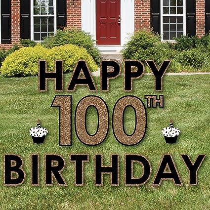 Amazon.com: Adulto 100º cumpleaños – Oro – Yard signo Césped ...