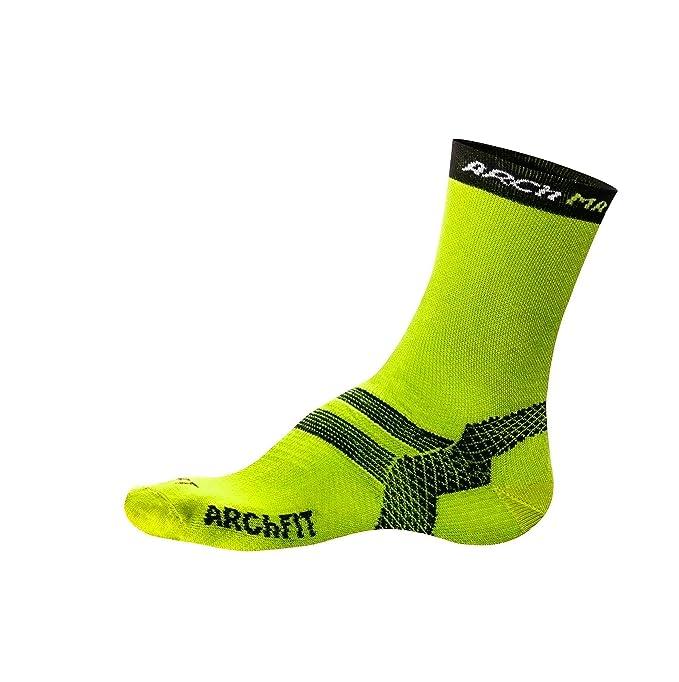 Arch Max Archfit Padel - Calcetín Deportivo Unisex, Color Amarillo, Talla S/36-39: Amazon.es: Deportes y aire libre