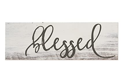 Amazon.com: Blessed White Rustic Wood Sign 6x18: Home & Kitchen on 10x14 kitchen design, 11x14 kitchen design, 10x12 kitchen design, 10x20 kitchen design, 9x12 kitchen design, 8x8 kitchen design, 10x15 kitchen design, 8x14 kitchen design, 12x12 kitchen design, 8x10 kitchen design, 6x6 kitchen design, 12x18 kitchen design,