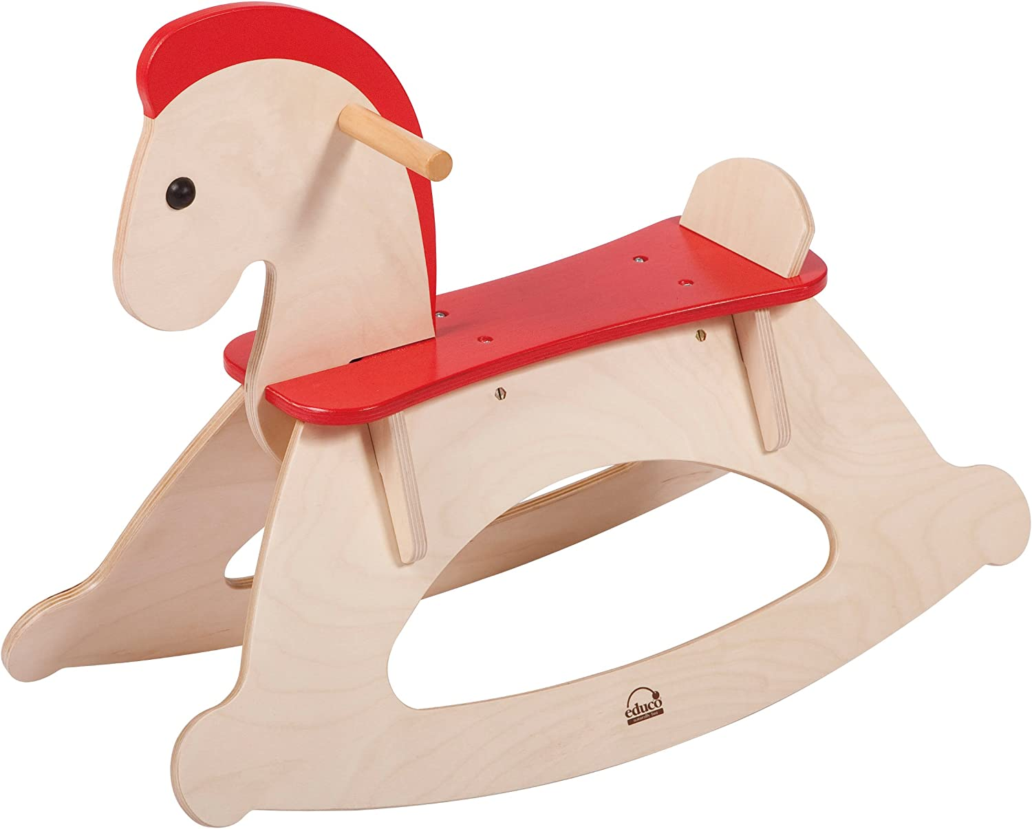 Hape Rock and Ride Kid s Wooden Rocking Horse