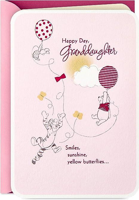 Amazon.com: Hallmark Winnie The Pooh Tarjeta de cumpleaños ...