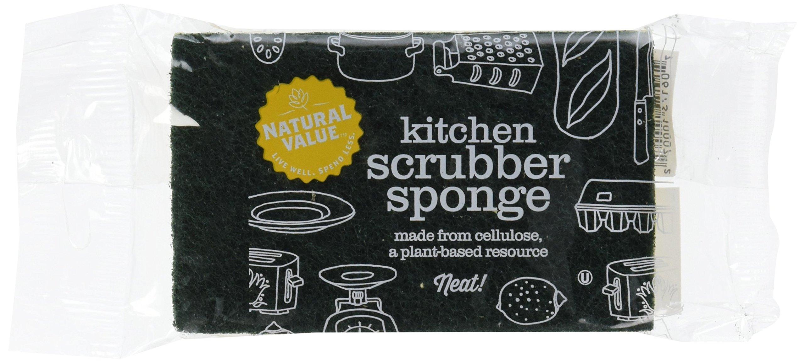 Natural Value Kitchen Scrubber Sponge (Pack of 24)