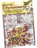 folia 12520 - Bastelset Für 5 Perlensterne, rot/Gold/Perlweiß