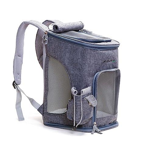 e7dae405cd Decoroom Pet Carrier Backpack Dog Travel Bag Top Opening Mesh Soft-sided Strap  Dog Cat